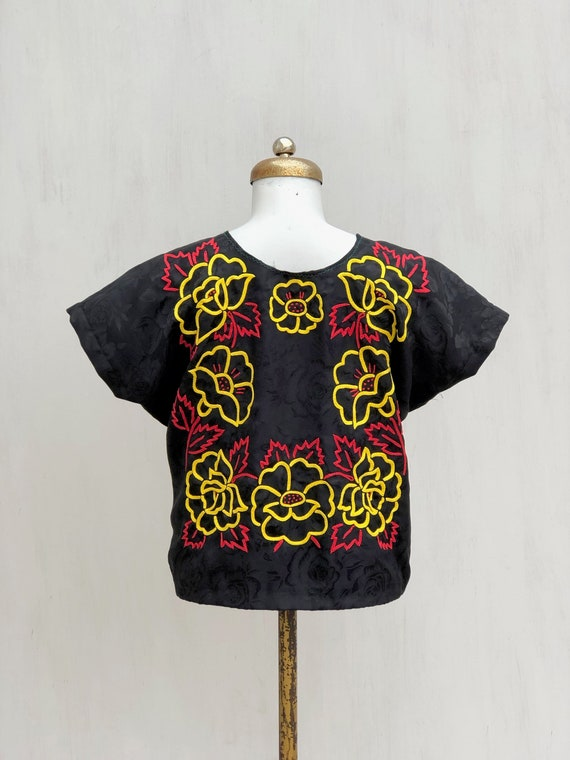Vintage hand embroidered tehuana, embroidered mex… - image 7