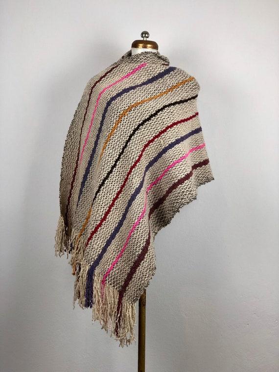 hand Woven Rebozo, Mexican Rebozo, woven wool rebo