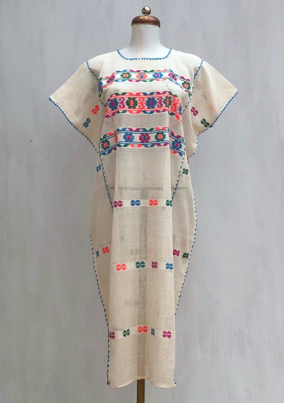 Mexican dress, Hand woven mexican dress, huipil dr