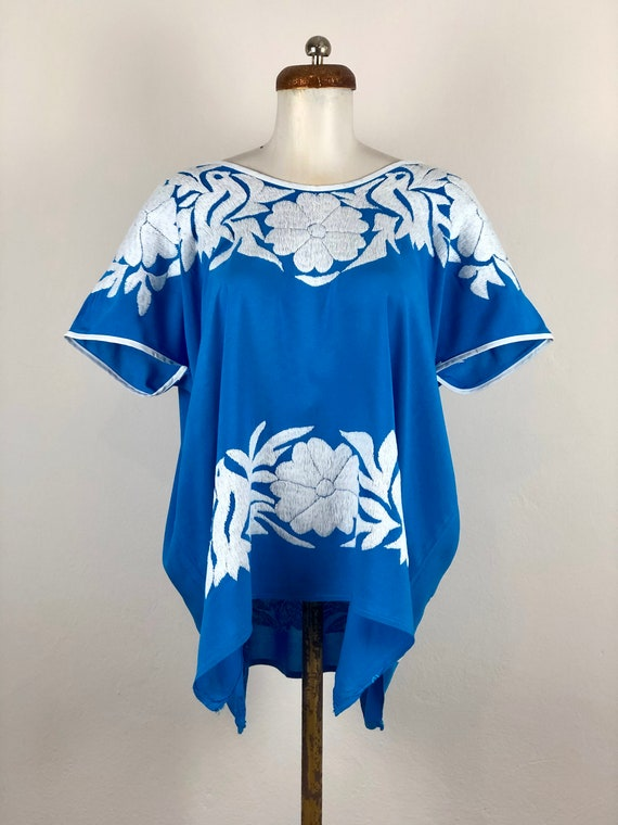 Mexican embroidered blouse, Mexican blouse with ha