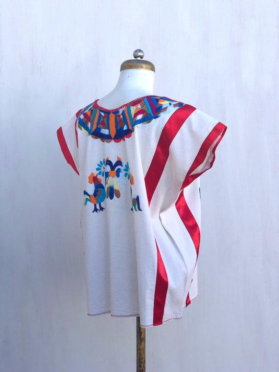 Mexican embroidered blouse, mexican hand embroide… - image 3