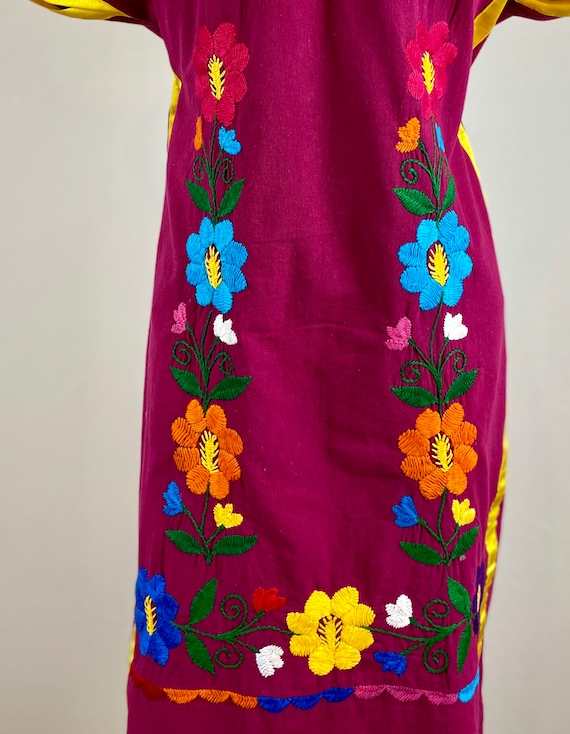 Mexican embroidered dress, hand embroidered Mexic… - image 6