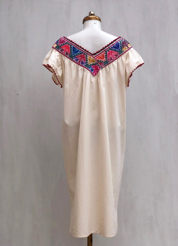 Mexican dress, hand embroidered mexican dress, Me… - image 7