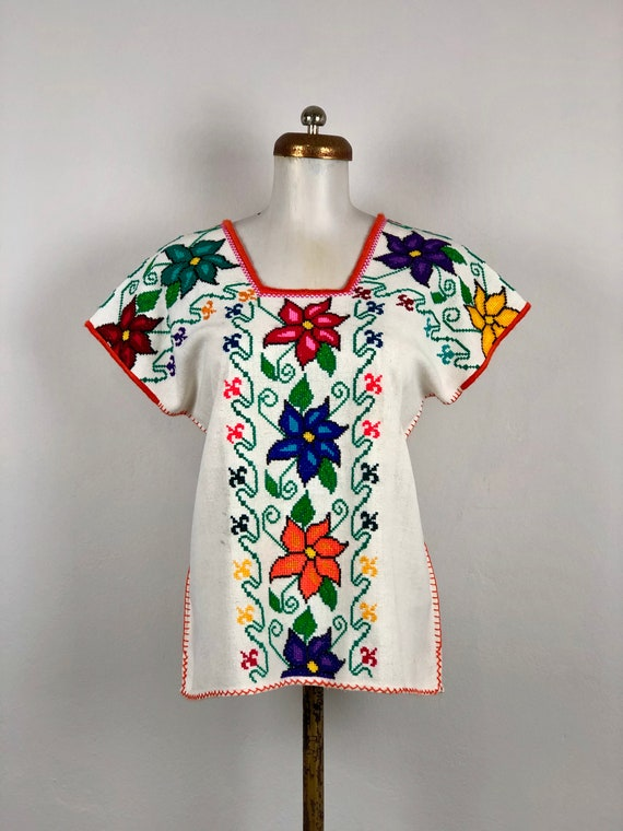 Hand Woven mexican blouse, woven blouse, Mexican b