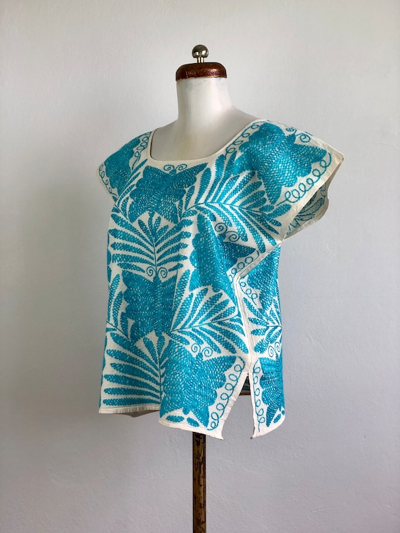 Embroidered mexican blouse, Mexican blouse with h… - image 7