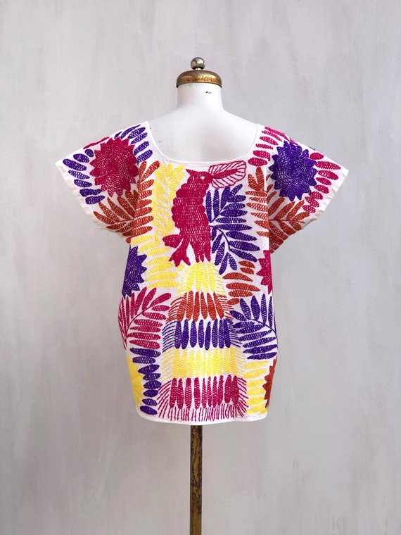 Embroidered mexican blouse, Mexican blouse with h… - image 3