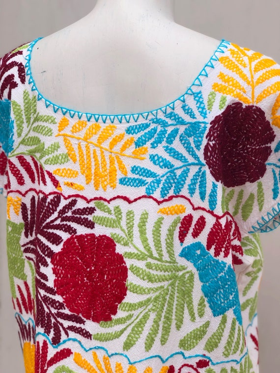 Embroidered mexican dress, Mexican dress with han… - image 6