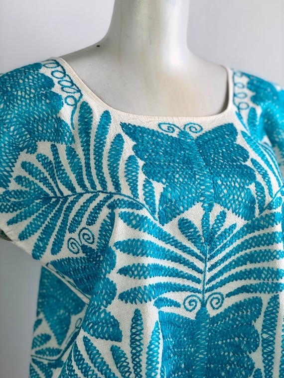 Embroidered mexican blouse, Mexican blouse with h… - image 4