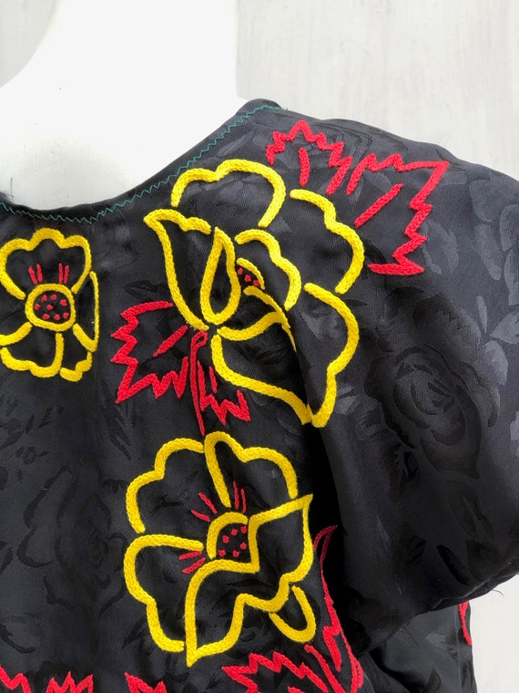 Vintage hand embroidered tehuana, embroidered mex… - image 2