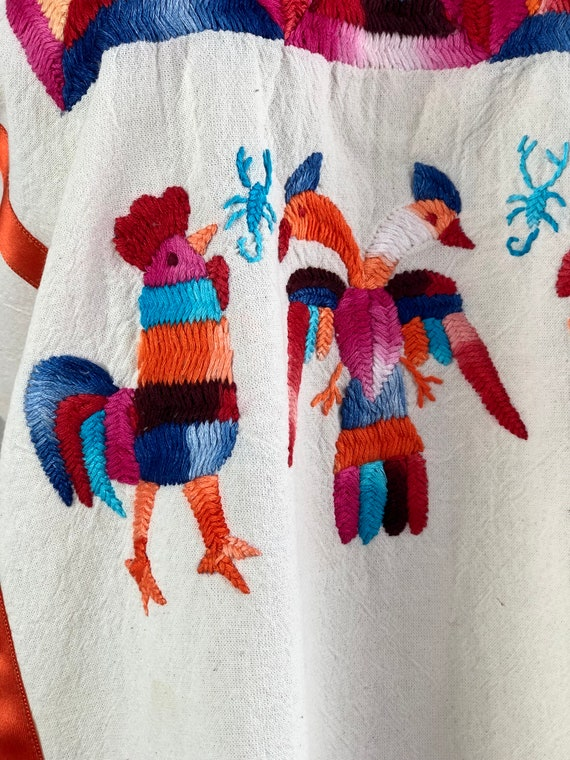 Mexican embroidered blouse, mexican hand embroide… - image 2