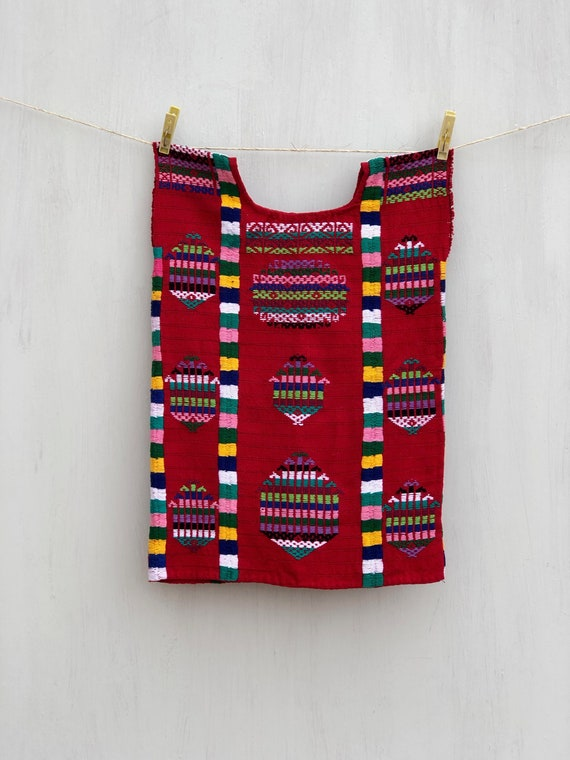 Mexican kids dress, Hand Woven mexican dress, Mexi