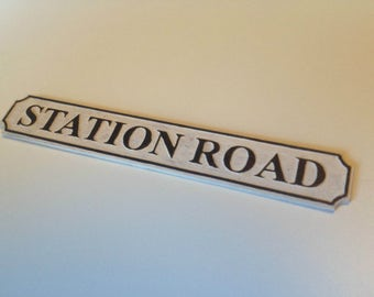 Personalised Street Name Sign For Dolls House - 1:12 Scale