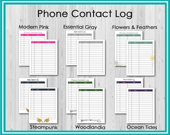 Add On: Phone Contact Log for the SpecializED Evaluator Planner