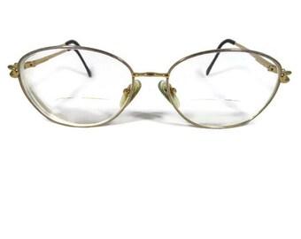 5fe9627b6e2d Vintage Titanium Eyeglasses Womens Vintage Full Frame Eyeglasses