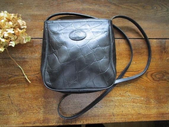 Vintage MULBERRY Cross Body Bag Black Congo Leathe