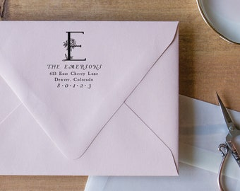 Personalized Stamp for Address, Stamp Address Stamp Monogram, Personalized Return Address Stamp Address Wedding
