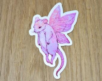 Fairy field mouse vinyl sticker