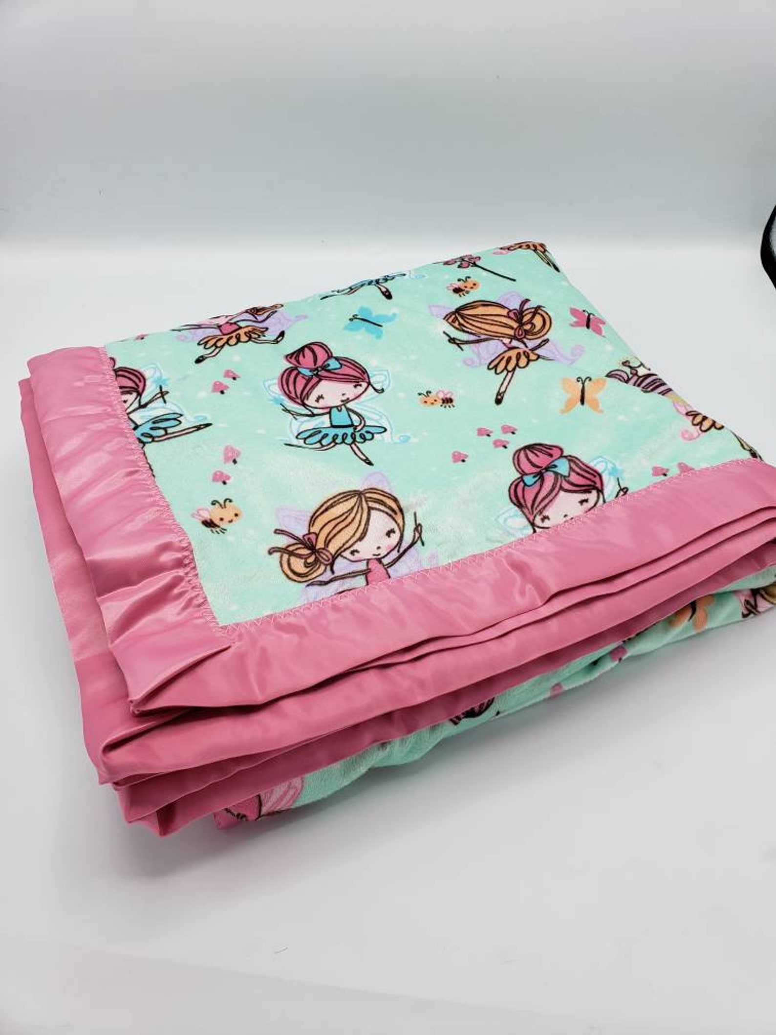 ballet dancer blanket, tiny dancer, minky throw blanket