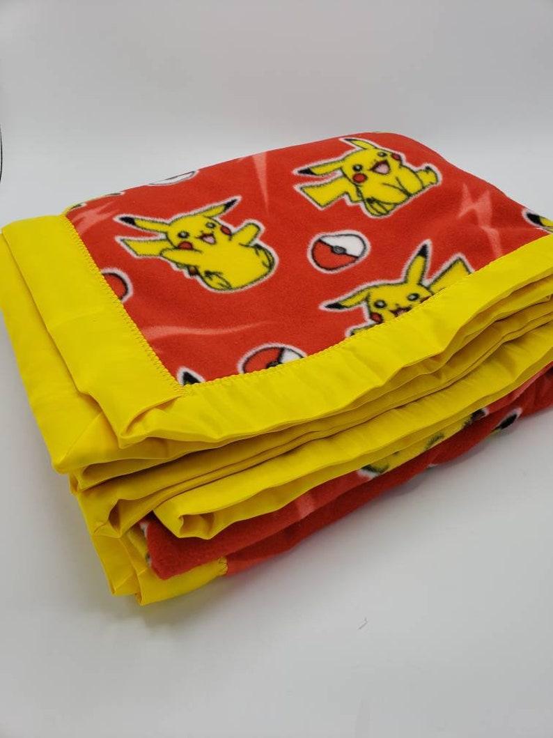Pokemon Pikachu Blanket Large Minky Fleece Throw Blanket