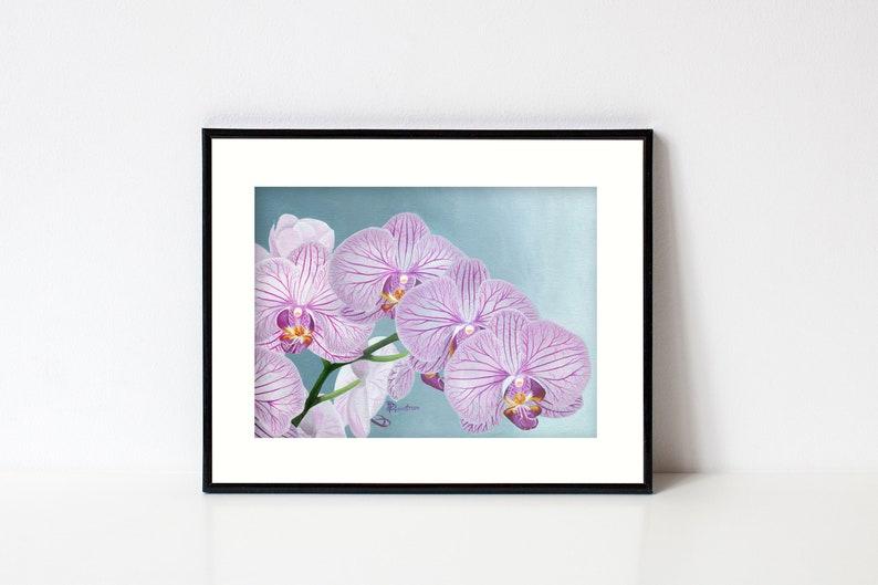 Orchid Print Wall Art Flowers Botanical Art Print Living image 0