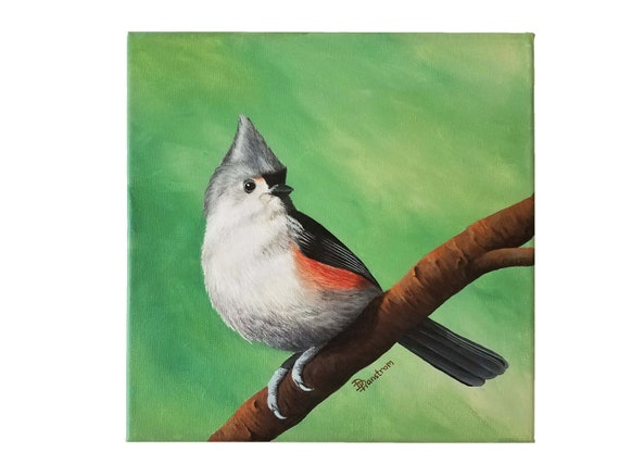 Songbird Art Tufted Titmouse Print Titmouse Art Tufted Titmouse Painting
