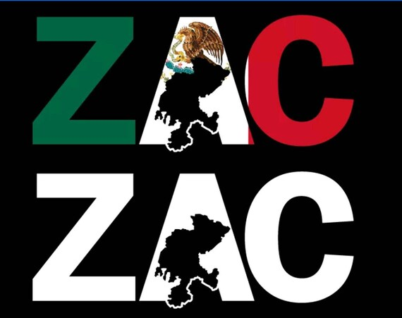 Zacatecas ZAC State of Mexico Decal Sticker Mexican Map Outline Car Vinyl