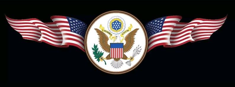 Usa Flagge Adler Aufkleber Auto Fenster Laptop Karte Vinyl Aufkleber
