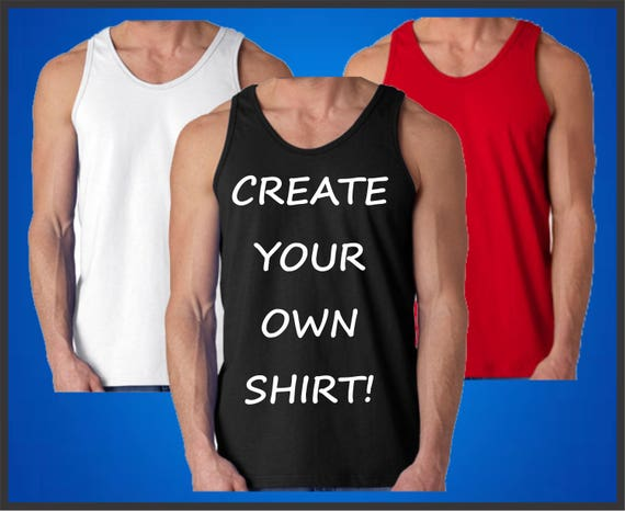 f58a5039 Custom Tank For Men Create Your Own Muscle Shirt Men's | Etsy