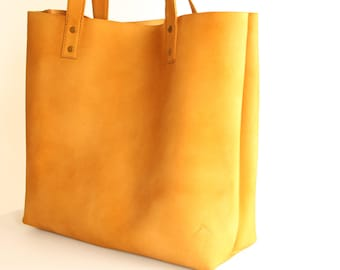 Leather Tote - Tote Bag - Rustic Leather - Distressed Leather Tote - Brown Leather Bag - Leather Bag - Leather Tote Bag