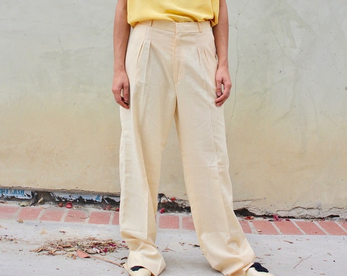 Work Trousers, Off white Vintage Woman's pants