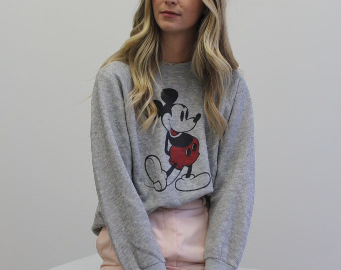 1980s Mickey Mouse Vintage Pull over Unisex Crew neck
