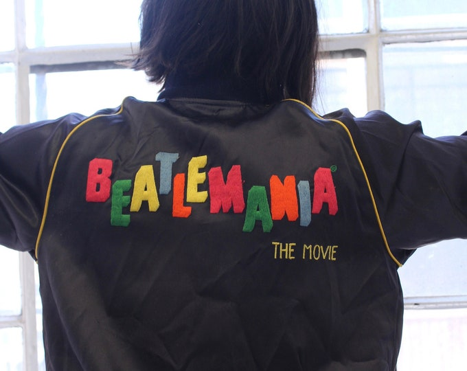 1980's Beatlemania Movie Rare Unisex Vintage Silk Bomber cinema coat