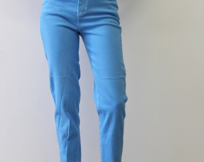 Route 66 90s Vintage Sky Light Blue High Waisted denim Pants