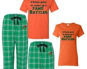 1d959e0f3b Custom HBCU Sleepwear Florida A&M University his and hers pajama set  Individual Set Gift for Him or Her Rattlers Ships in 7-14 Business days