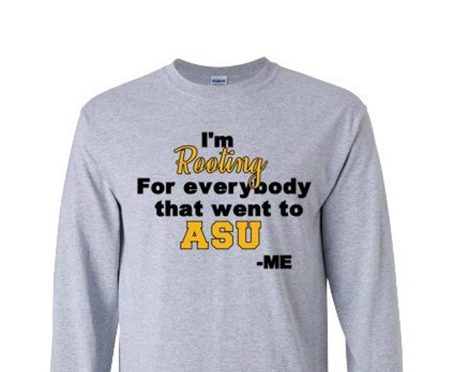 b63601d6 Alabama State University Rooting for ASU Hornets Long Sleeve Tee HBCU Black  and Gold Apparel Gift