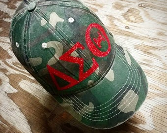 DST Ball Cap Cotton Camo Hat D9 Melanin Black Girl Magic Black College  Customizable Colors Delta Sigma Theta Inspired 04db1b4c1deb