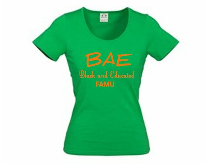 c966adbd4 HBCU, Florida A&M University, Rattlerette, Green, Orange, Tshirt, Rattlers,.  Educated Black Woman T-Shirt