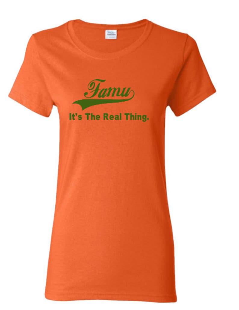1df884967 Ladies HBCU Florida A&M University Real thing Green Orange | Etsy