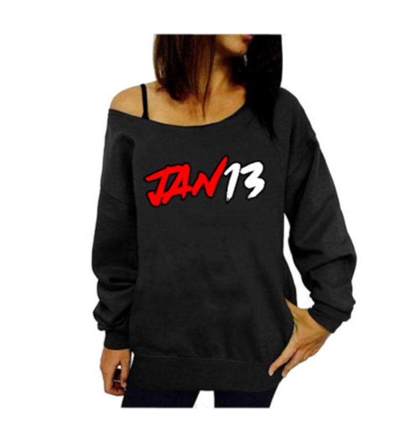 Ships in 7-14 business days Slouchy Tattered Wide Neck Off the Shoulder Sweatshirt S-5X Truly Oversized recommended to order a size down