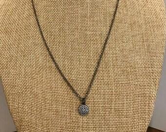Gunmetal Dot Necklace