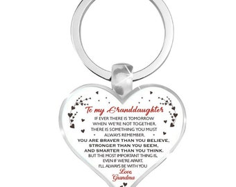 Granddaughter 21st Keyring 21st Gift for a Granddaughters 21st Birthday Keychain