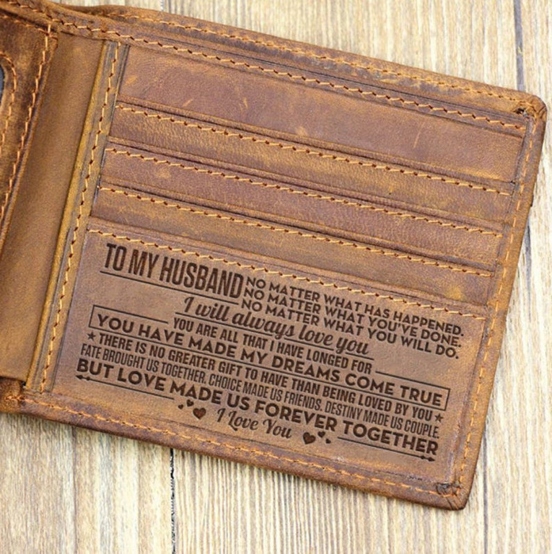 To Husband Wallet Gift From Wife Together Forever Leather Men image 0