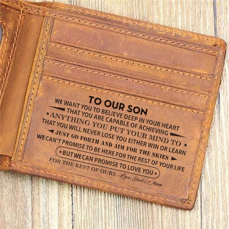 To OUR Son Wallet Gift From Mom & Dad I Want You To Believe image 0