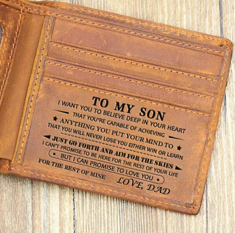 To My Son Wallet Gift From Dad I Want You To Believe Love Dad image 0
