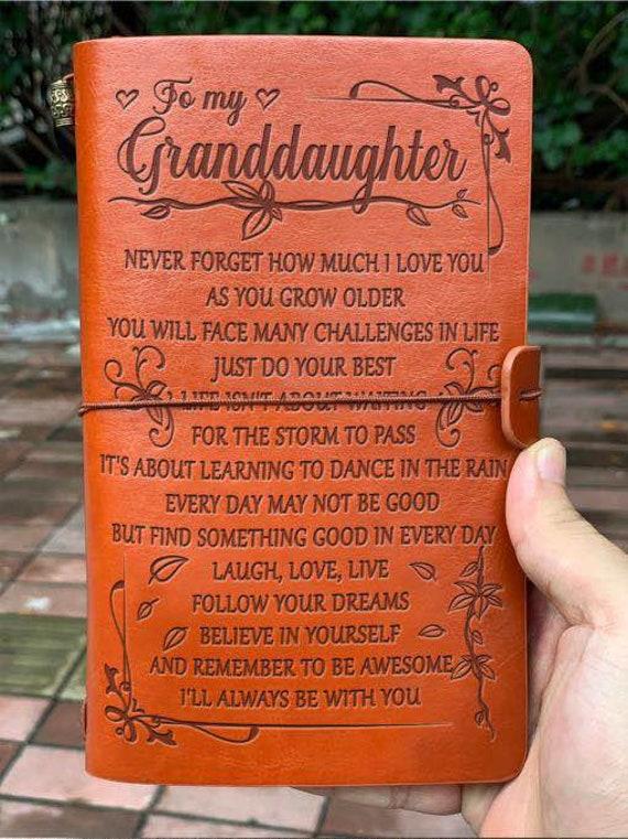 Grandpa Grandma to Granddaughter Luxury Necklace Gift For Birthday Wedding X-mas