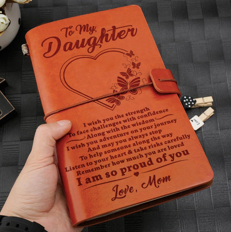 From Mom Daughter Gift I Wish You The Strength Journal Gift image 1