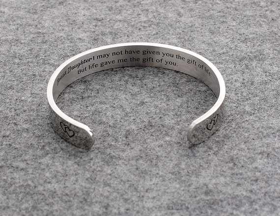 To Daughter Bracelet Jewelry Gift Love From Mom Dad To Daughter For Birthday Christmas Wedding Uni College Graduation Daughter Bracelet Gift
