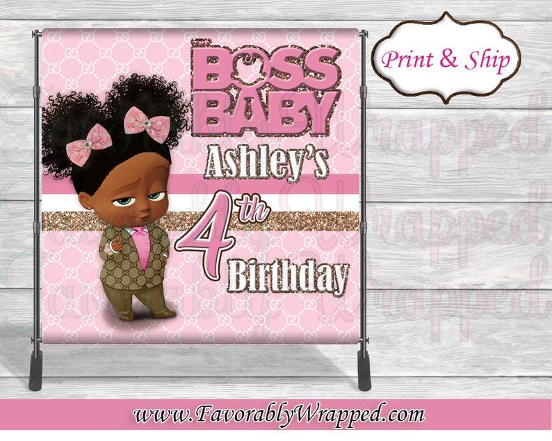 97587f03d4b Gucci Boss Baby Girl 8x8 Backdrop-Gucci Birthday-Boss Baby