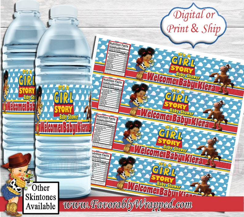 It/'s a Girl Story Baby Shower Water Bottle Labels-Toy Story Water Label-Toy Story Baby Shower-Water Labels-Baby Shower-It/'s a Boy-Its a Girl