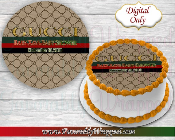 Gucci Cake Image,Baby Shower Cake Image,Baby Shower Decorations, Gucci  Decorations,Gucci Cake,Edible Cake Images,Baby Shower,DIGITAL ONLY